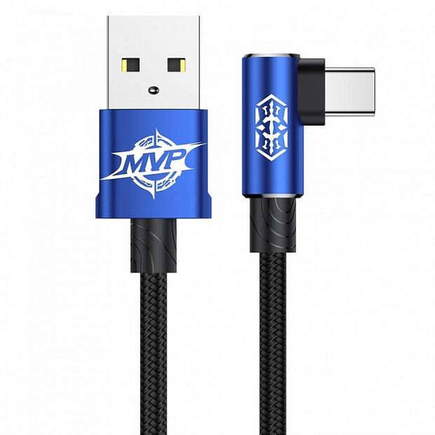 Baseus MVP Elbow Type Cable USB For Type-C 1.5A 2m (Blue)
